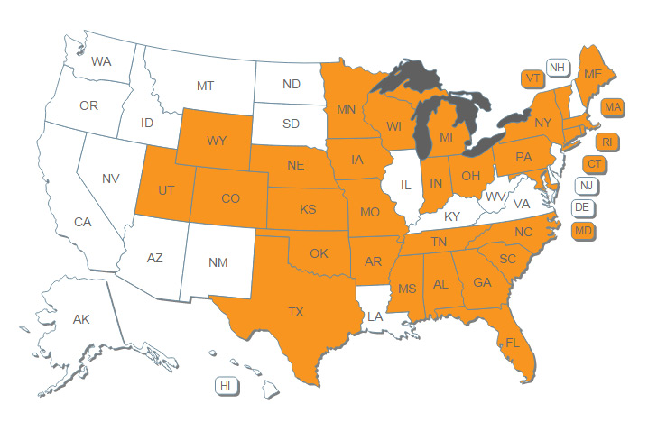 Energy Impact - Map of State Exemptions